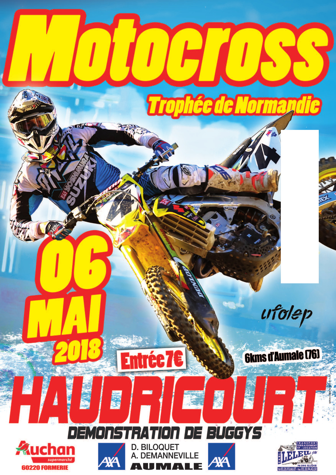mc haudricourt affiche moto cross 6 mai 2018. Black Bedroom Furniture Sets. Home Design Ideas